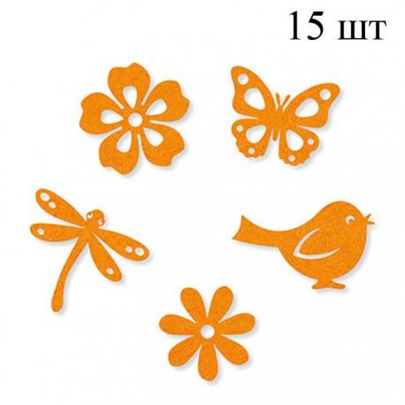 Лето оранжевое Набор из фетра декоративные элементы для скрапбукинга, кардмейкинга Efco