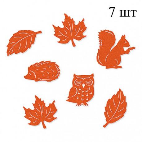 Лесные обитатели оранжевые Набор из фетра декоративные элементы для скрапбукинга, кардмейкинга Efco