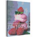 Макаруны и малина 75х100 см Раскраска картина по номерам на холсте AAAA-RS141-75x100