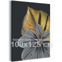 Золотые и серебрянные листья 100х125 см Раскраска картина по номерам на холсте с металлическими красками AAAA-RS118-100x125