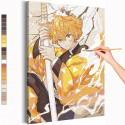 Зеницу / Клинок, рассекающий демонов Анимэ Раскраска картина по номерам на холсте AAAA-ANI033