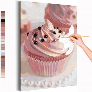 Маффин со сладкими бусинами Раскраска картина по номерам на холсте AAAA-RS144