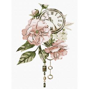 Винтажные цветы Раскраска картина по номерам на холсте KH1013