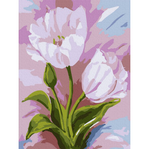 Тюльпаны Раскраска картина по номерам на холсте KH1009