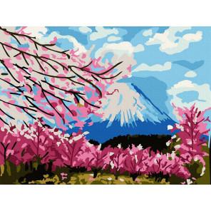 Весна в японии Раскраска картина по номерам на холсте KH1010