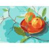 Апельсиновое настроение Раскраска картина по номерам на холсте KH1002