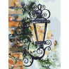 Уличный фонарь Раскраска картина по номерам на холсте KH0997