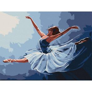 Балерина в танце Раскраска картина по номерам на холсте KH0994