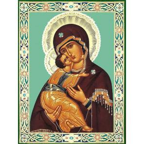 Владимирская божия матерь Алмазная мозаика вышивка без подрамника KM0291