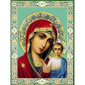 Казанская божия матерь Алмазная мозаика вышивка без подрамника KM0293