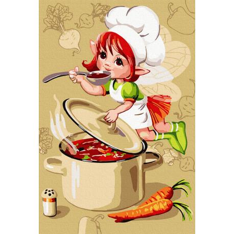 Обед для эльфов Раскраска картина по номерам на холсте KH1044