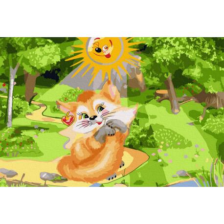 Утро в лесу Раскраска картина по номерам на холсте KH1045