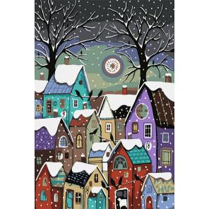 Пряничные домики Раскраска картина по номерам на холсте KH1038