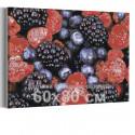 Малина и ежевика 60х80 см Раскраска картина по номерам на холсте AAAA-RS133-60x80
