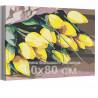 Жёлтые тюльпаны 60х80 см Раскраска картина по номерам на холсте AAAA-RS142-60x80