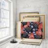Пример работы Малина и ежевика 75х100 см Раскраска картина по номерам на холсте AAAA-RS133-75x100