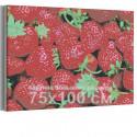 Спелая клубника 75х100 см Раскраска картина по номерам на холсте AAAA-RS135-75x100