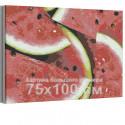 Сочный арбуз 75х100 см Раскраска картина по номерам на холсте AAAA-RS136-75x100