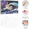 Пример работы Сакура и демоны / Аниме Раскраска картина по номерам на холсте AAAA-ANI003