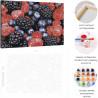 Пример работы Малина и ежевика Раскраска картина по номерам на холсте AAAA-RS133