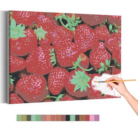 Спелая клубника Раскраска картина по номерам на холсте AAAA-RS135