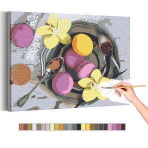 Сладкий завтрак Раскраска картина по номерам на холсте AAAA-RS140