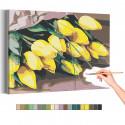 Жёлтые тюльпаны Раскраска картина по номерам на холсте AAAA-RS142