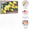 Пример работы Жёлтые тюльпаны Раскраска картина по номерам на холсте AAAA-RS142