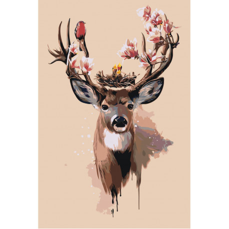Количество цветов и сложность Волшебный олень Раскраска картина по номерам на холсте Z-AB81