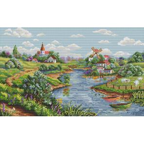 Весенний пейзаж Набор для вышивания K-57
