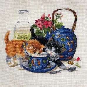 Котята и молоко Набор для вышивания K-66