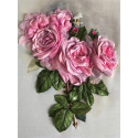 Ветка с розами Набор для вышивки лентами Многоцветница МЛ(Н)-4004