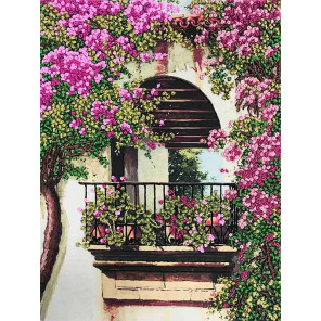 Балкон Набор для вышивки лентами Многоцветница МЛ(Н)-3012