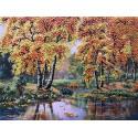 Осень Набор для вышивки лентами Многоцветница МЛ(Н)-3014