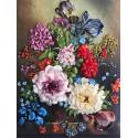 Букет с тюльпанами Набор для вышивки лентами Многоцветница МЛ(Н)-3015