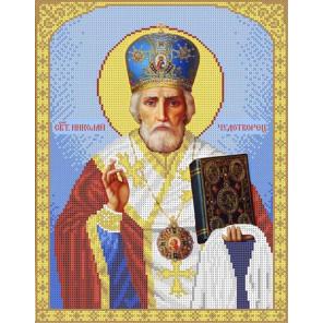 Святой Николай Канва с рисунком для вышивки бисером