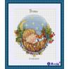 Вариант оформления в рамке Колыбельная для сыночка Набор для вышивания Merejka K-22