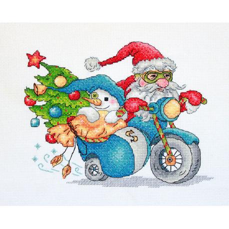 Рождественские гонки Набор для вышивания Merejka K-121