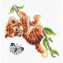 Любопытный тигренок Набор для вышивания Многоцветница