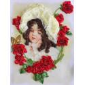 Девочка Таня Набор для вышивки лентами Многоцветница