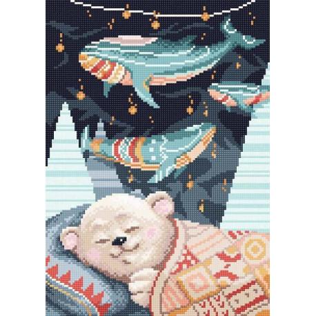 """МС-053 """"Мишка спит"""" Набор для выкладывания стразами МС-053"""