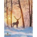 В зимнем лесу Набор для вышивания Овен 1399