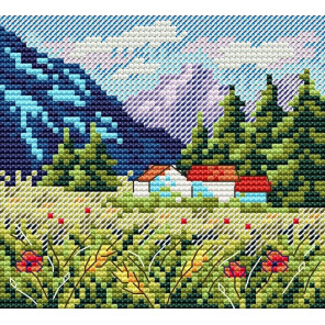 Набор Горный пейзаж Набор для вышивания МП-Студия М-614
