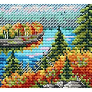 Набор Осенний лес Набор для вышивания МП-Студия М-615
