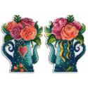 Набор Цветы любви Набор для вышивания на пластиковой канве МП-Студия Р-575