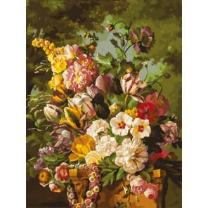 Букет в саду Раскраска картина по номерам на картоне Белоснежка 3265-CS