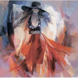 Lady in red Раскраска по номерам акриловыми красками на холсте Color Kit