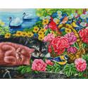 Корзина с цветами Алмазная вышивка мозаика на подрамнике Белоснежка 613-ST-S