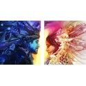 День и ночь Диптих Раскраска по номерам на холсте Color Kit
