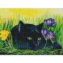 Кот и крокусы Алмазная вышивка мозаика на подрамнике Белоснежка 603-ST-S